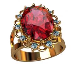 Массивное кольцо под заказ, ручная работа артикул: 2497
