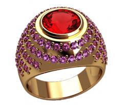 Массивное кольцо под заказ, ручная работа артикул: 2555