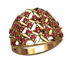 Массивное кольцо под заказ, ручная работа артикул: 2572