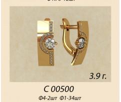 Женские авторские серьги артикул: С-00500