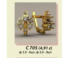Женские авторские серьги артикул: С-705