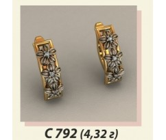 Женские авторские серьги артикул: С-792