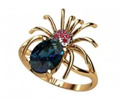 Женское кольцо индивидуальной обработки артикул: 1365