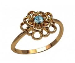 Женское кольцо индивидуальной обработки артикул: 2609