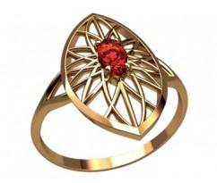 Женское кольцо индивидуальной обработки артикул: 2615