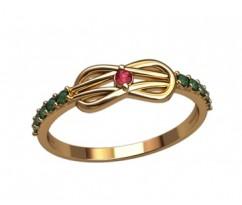 Женское кольцо индивидуальной обработки артикул: 2616