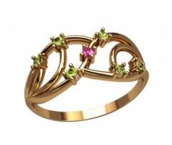 Женское кольцо индивидуальной обработки артикул: 2620