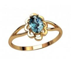 Женское кольцо индивидуальной обработки артикул: 2658