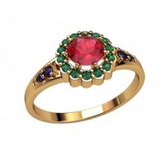 Женское кольцо индивидуальной обработки артикул: 2670