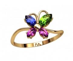 Женское кольцо индивидуальной обработки артикул: 2681