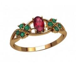Женское кольцо индивидуальной обработки артикул: 2697