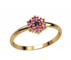 Женское кольцо индивидуальной обработки артикул: 2700