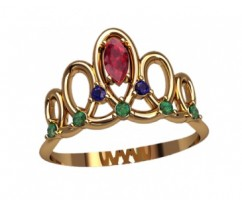 Кольцо женское ручной авторской работы артикул: 2765 Корона