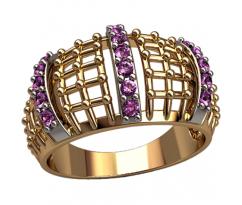 Массивное кольцо под заказ, ручная работа артикул: 1305