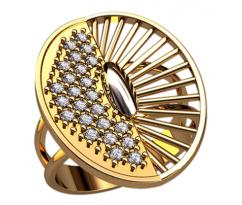 Массивное кольцо под заказ, ручная работа артикул: 1314