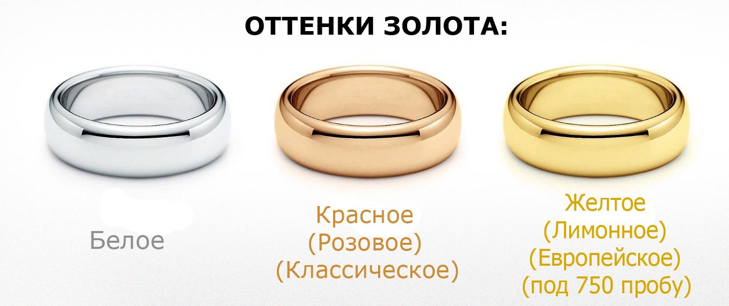 какие цвета золота бывают